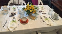 Beautifully set afternoon tea table at Rengstorff House Annual Spring Tea - tea gift ideas.