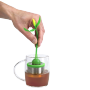 green tea magnet and infuser set in use tea gift ideas