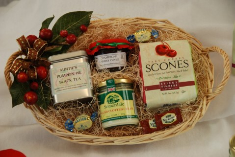 Tea Lover Gift Baskets Cream tea and scones tea gift basket